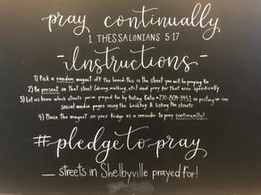#pledgetopray for Shelbyville!