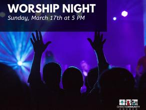 Worship Night is This Sunday!