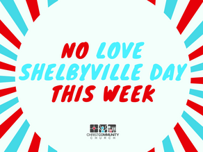 No Love Shelbyville Day This Sunday