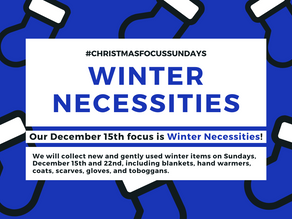 Donate Winter Necessities on the 15th & 22nd