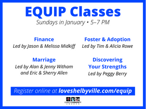 EQUIP Classes Return January 2020