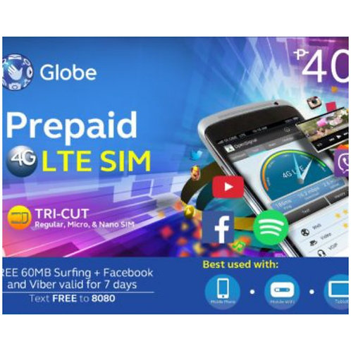 GLOBE LTE SIMCARD