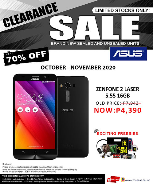 Asuz Zenfone 2 16gb laser 5.55 (ZE550KL)
