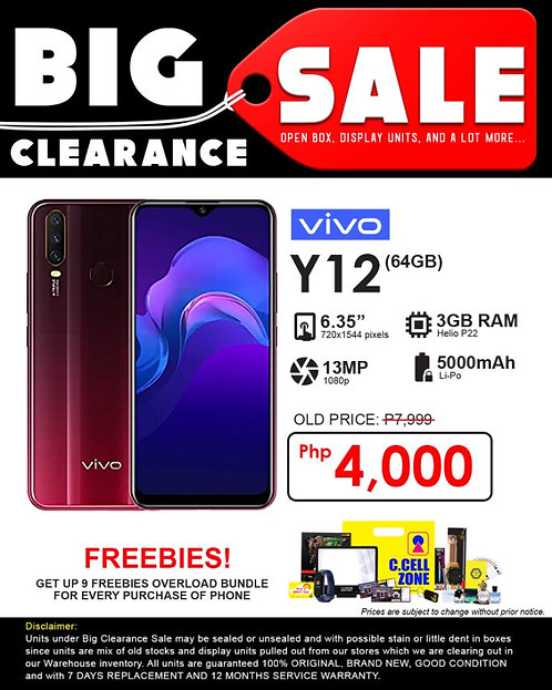 Vivo Y12 5000mah 3GB/64GB