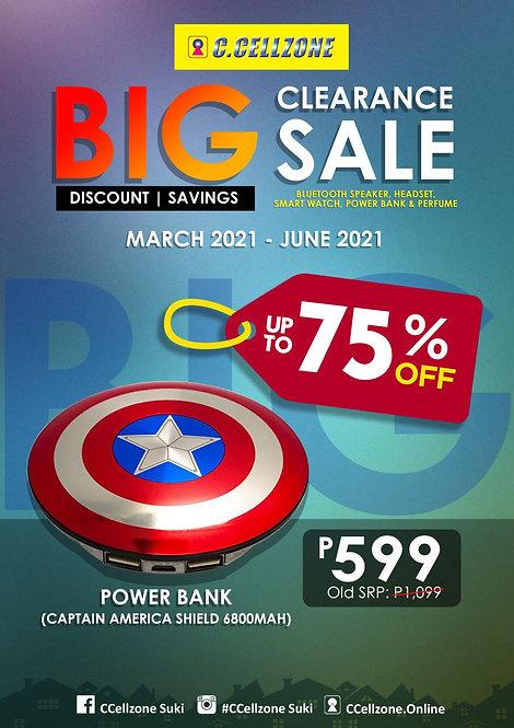 CZ Captain America Shield Power Bank 6800mah