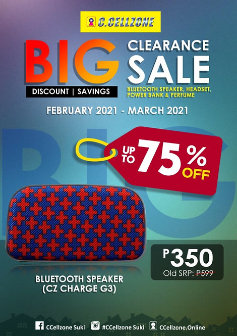 CZ Trendy Bluetooth Speaker Charge G3(BTS TRS CHARGE G3 C618)