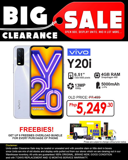 Vivo Y20i 4GB+64GB (Clearance Sale)