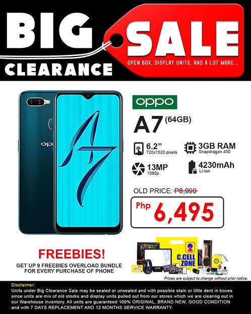 OPPO A7 3GB+64GB (Clearance Sale)