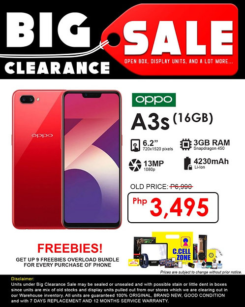 oppo A3s 16gb (1803)