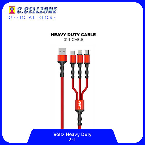 Voltz Heavy Duty 3 in 1 Cable