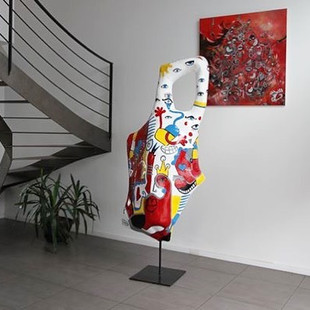 Sculpture et tableau #poulpykiss #tailor