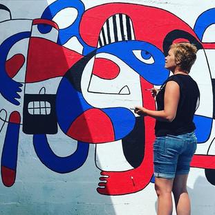 Fresque murale merci _pebeo #poulpykiss