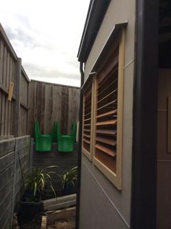External shutter wall