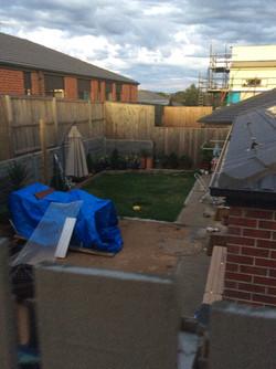 Before - basic grass backyard
