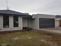 Finished garage front