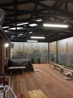 Finished deck and pergola
