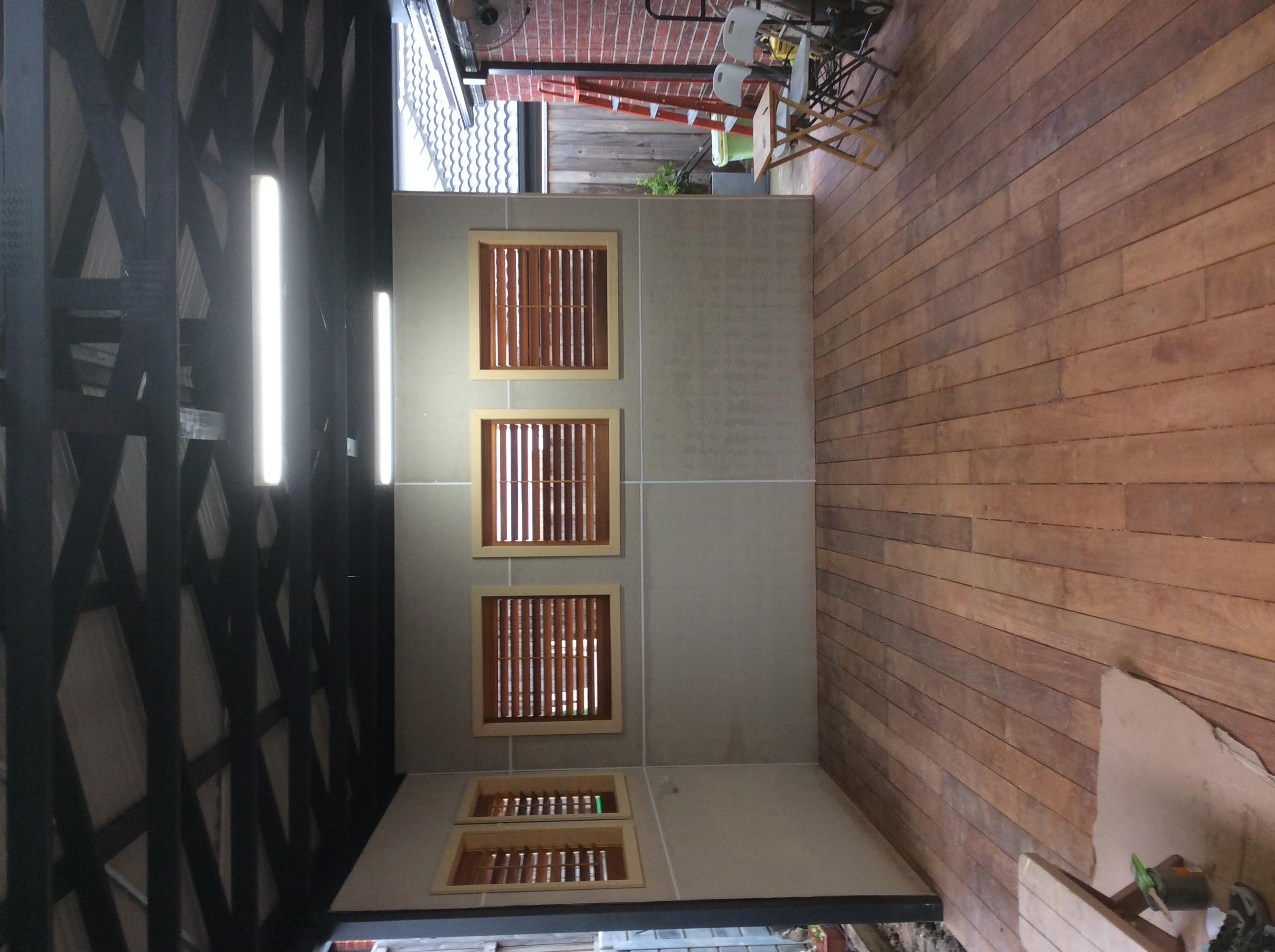 Inside pergola