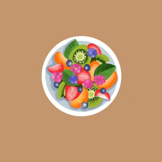 Illustration salade de fruits