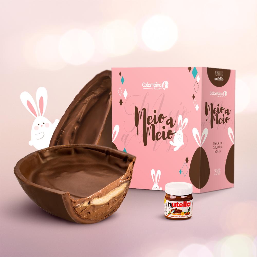 Meio a Meio Ninho com Nutella