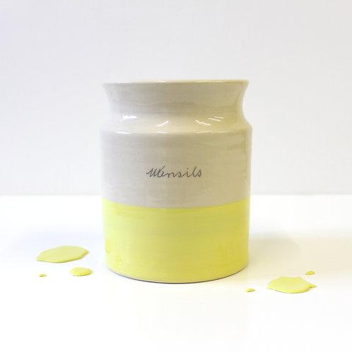 Utensil Holder - Lemon Yellow