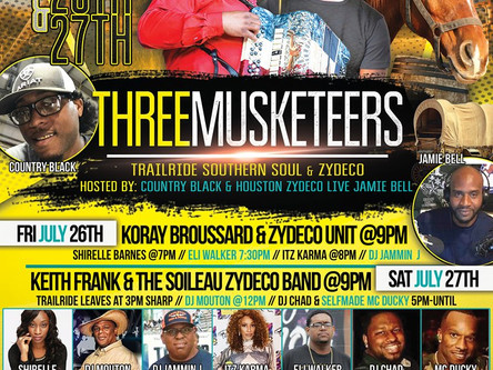 LIVE IN CROSBY TEXAS WITH THE THREE MUSKETEERS