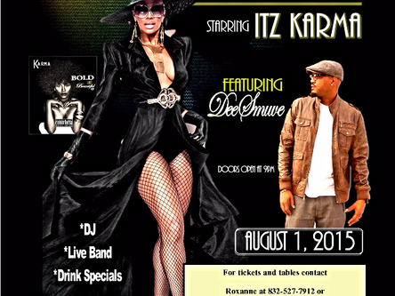 Itz Karma will host her highly anticipated Bold and Beautiful concert on August 1.