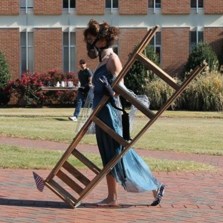 The Last Tightrope by Jennifer Marie Wallace performed today at _unccharlotte #rowearts _artsuncc #h