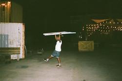 _dammit_wesley 👀 👨🏿🎨🏋🏿 _campnorthend last Friday #filmphotography #hannahbarnhardtphotos #chi