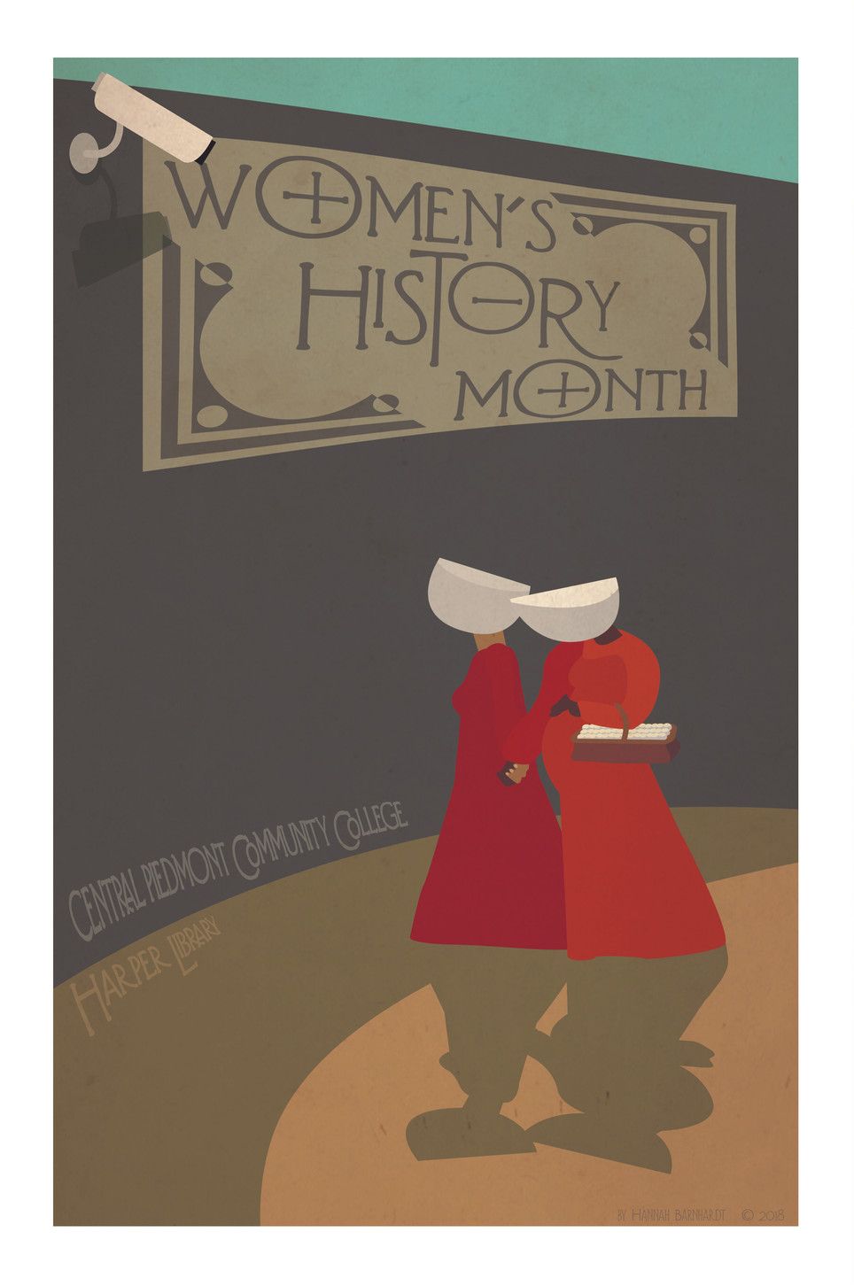 Women's History Month Posters for CPCC Harper Library