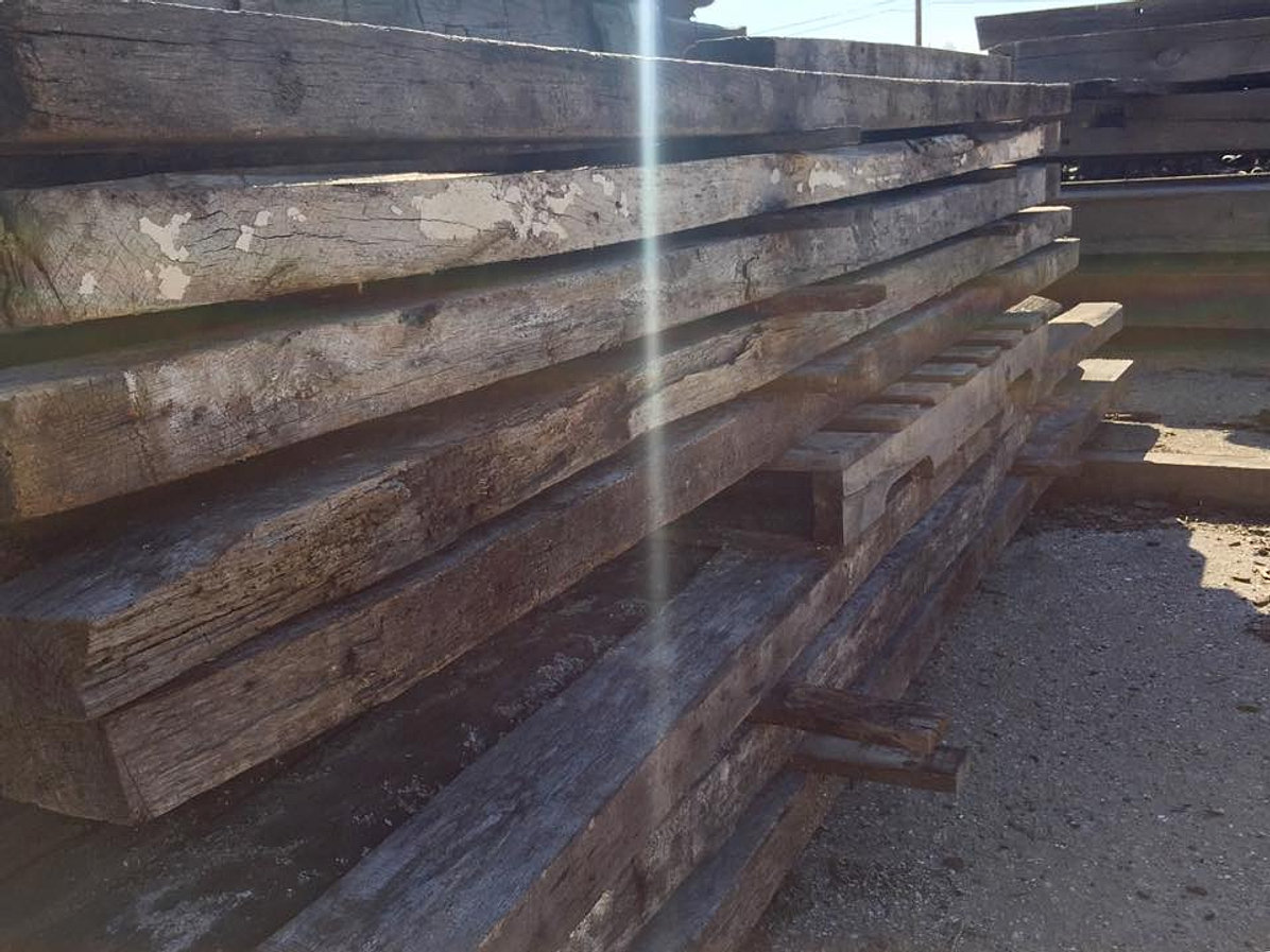 Reclaimed Wood, White Oak Beams - Deconstruction Inc. Reclaimed, Salvage, Antique Madison, WI