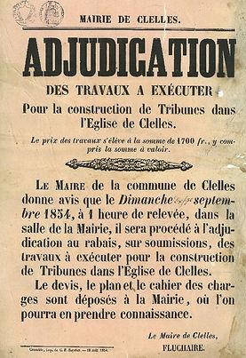 1854-adjudication-tribune-eglise-Clelles
