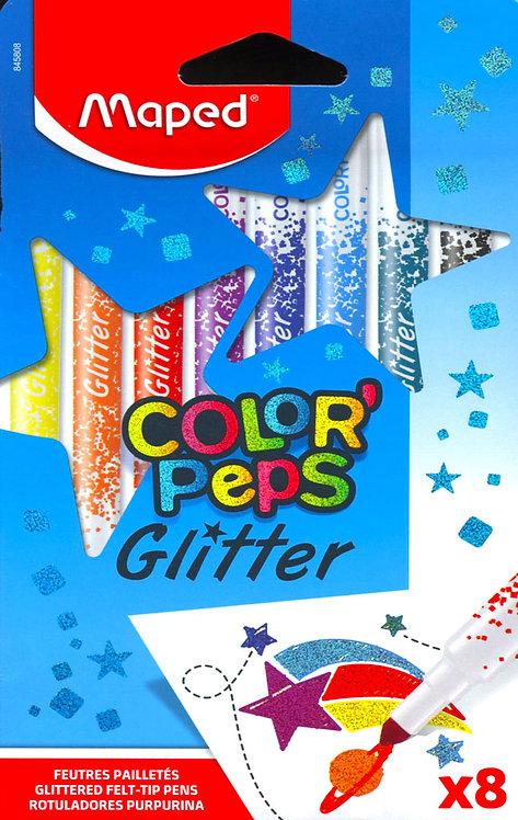 Μαρκαδόροι Glitter Maped 8 χρώματα