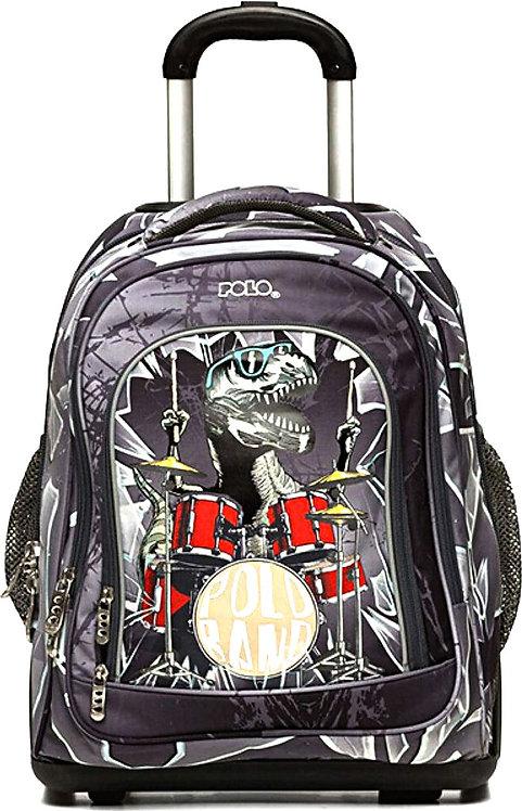 Τσάντα σχολική Δημοτικού Τρόλεϊ Δεινόσαυρος Μπάντα