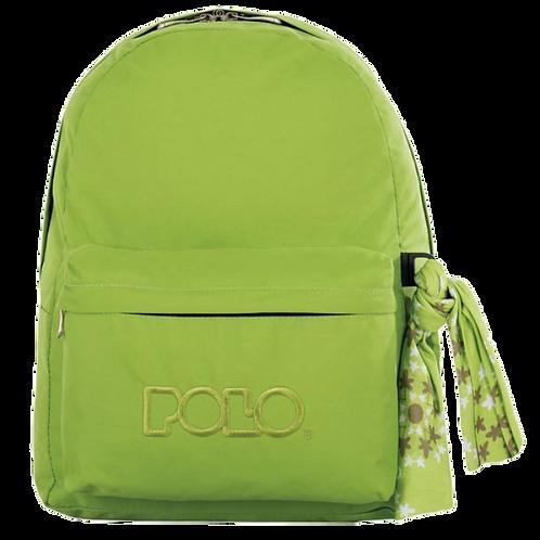 Σχολική τσάντα POLO CLASSIC με Μαντήλι Λαχανί 9-01-135-86 (2017)