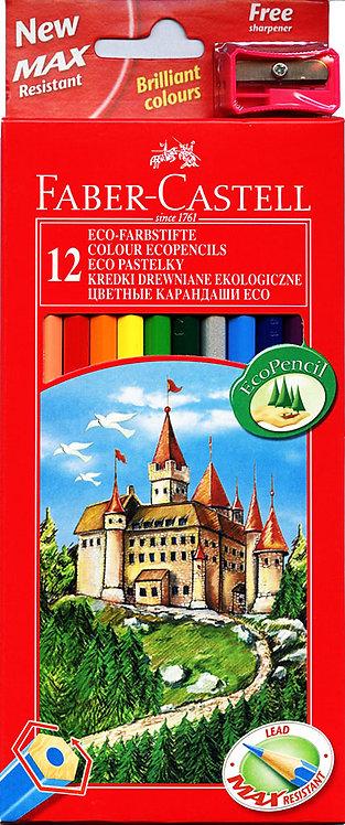 Ξυλομπογιές 12 χρωμάτων Faber-castell