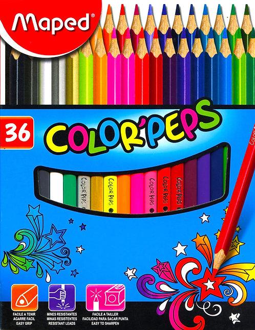 Μπογιές Maped 36 χρώματα