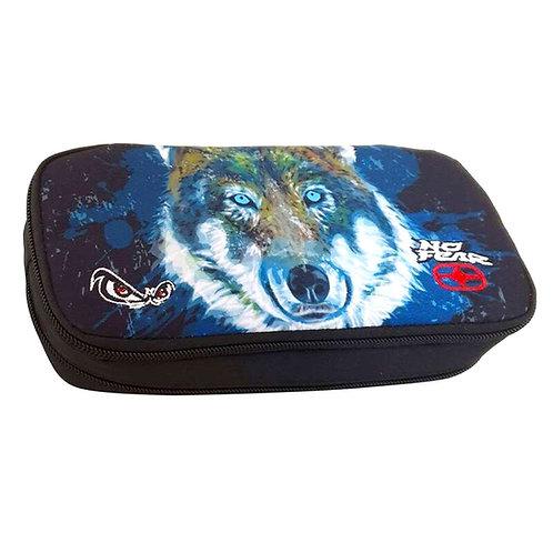 Κασετίνα Διπλή No Fear wolf