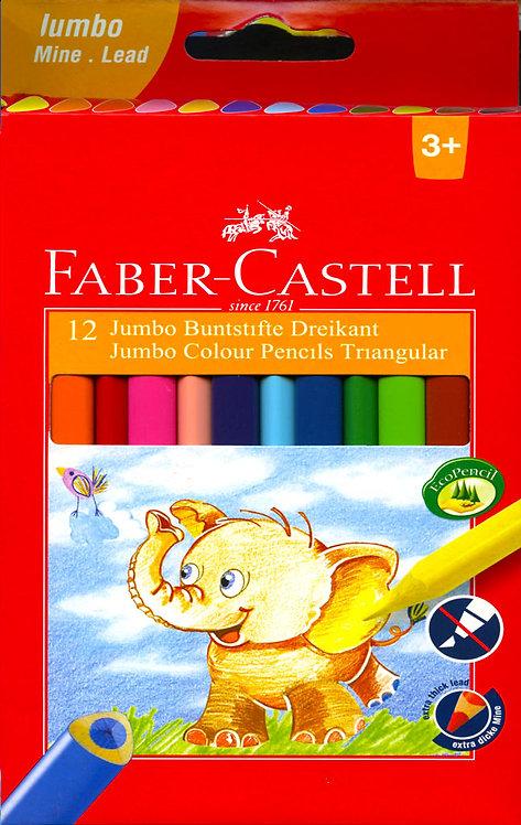 Ξυλομπογιές Faber-Castell jumbo 12 χρωμάτων