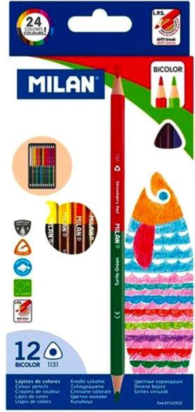 Ξυλομπογιές Milan (24 χρώματα)-12 Bicolor