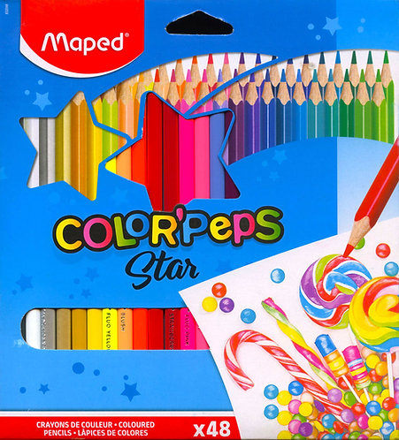 Ξυλομπογιές mated color'peps star