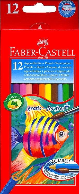 Ξυλομπογιές υδατοδιαλυτές Faber-Castell