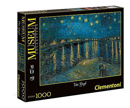 Puzzle 69x50 cm Van Goch Starry night on the Rhone  1000 κομμάτια