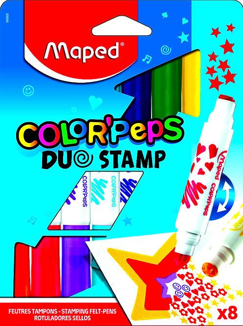 Μαρκαδόροι Maped Color'Peps Du Stamp(8 χρώματα)