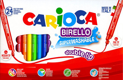 Μαρκαδόροι ζωγραφικής Carioca birello 24 χρώματα