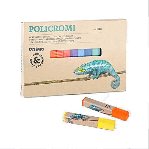 Ξηροπαστέλ 12 χρώματα Polichromi