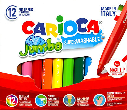 Carioca μαρκαδόροι 6mm πακέτο των 12