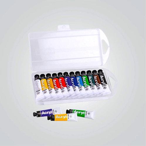 Ακρυλικά χρώματα σετ 12 τεμαχίων