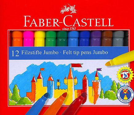 Μαρκαδόροι Faber-Castell 12 χρωμάτων χονδροί