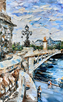 Pont Alexandre III, huile sur toile, 130