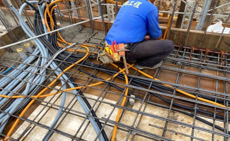 會館 1F 底板水電配管